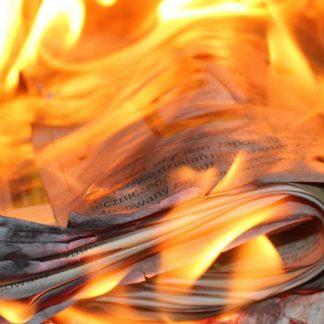 Schwer entflammbare Papiere und papierähnliche Stoffe