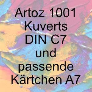 Artoz 1001 - Briefhülle DIN C7 und passende Kärtchen