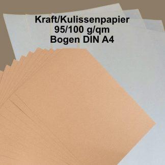 Kraft/Kulissenpapier weiß - Bogenware